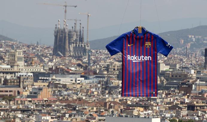 Así es la nueva camiseta del Barcelona para la temporada 2018 2019 ... 11bc2e17ccf20