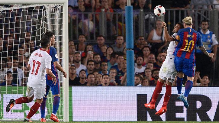 Supercopa de España 2016 (vuelta)  Gol de Messi (3-0) en el Sevilla 3-0  Barcelona d30eb630367ae
