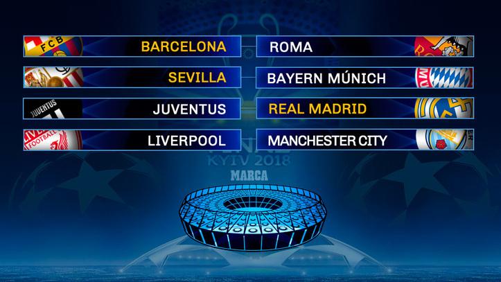 Sorteo Champions League: Barça vs Roma, Sevilla vs Bayern y Juventus ...