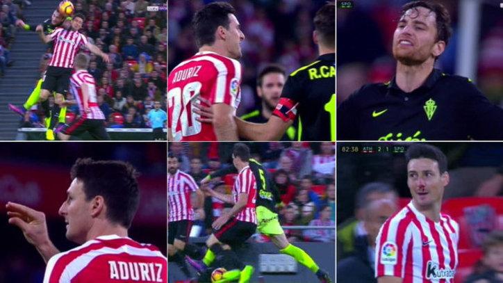 Athletic  Pique entre Aduriz y Amorebieta  codazos 0b79de4213334