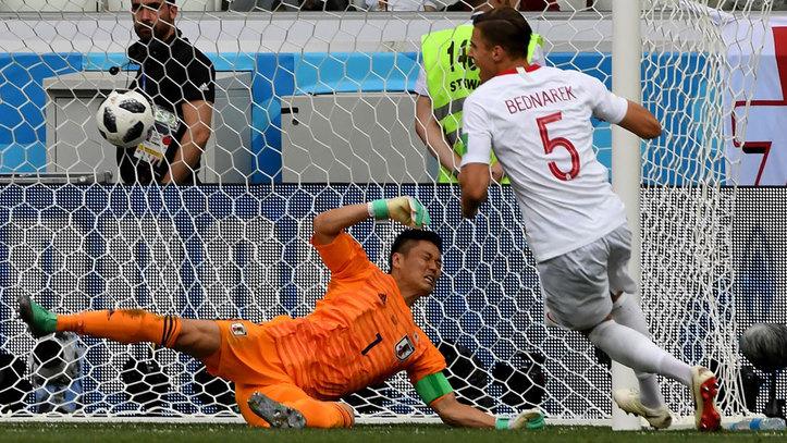 Jugada del gol de Polonia
