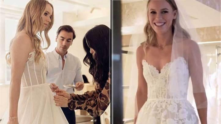 c8e0f0d1 Los secretos del vestido de novia de Óscar de la Renta con el que se casó  Caroline Wozniacki