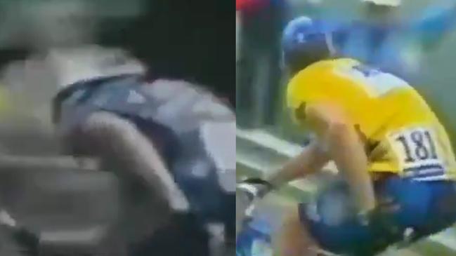 Ciclismo: Los gestos en la nalga que 'delatan' a Lance Armstrong por el uso de motores | Marca