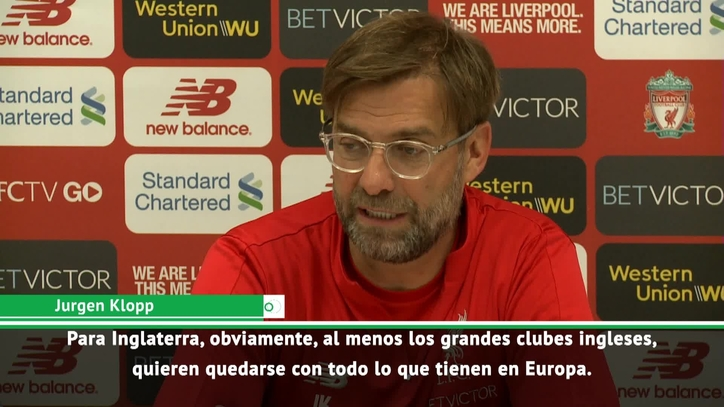 a03b98f70c6 Premier League  Klopp jokes about Brexit  The English teams want to ...