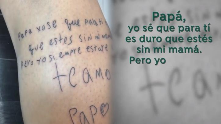 Luis Delgado Se Tatúa Un Conmovedor Dibujo Que Hizo Su Hijo Marca