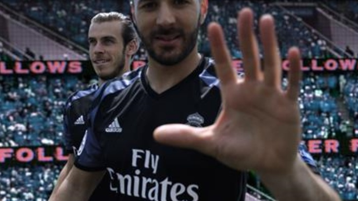 Real Madrid  Benzema estrena la tercera equipación del Real Madrid ... 2299c2ddac1bb