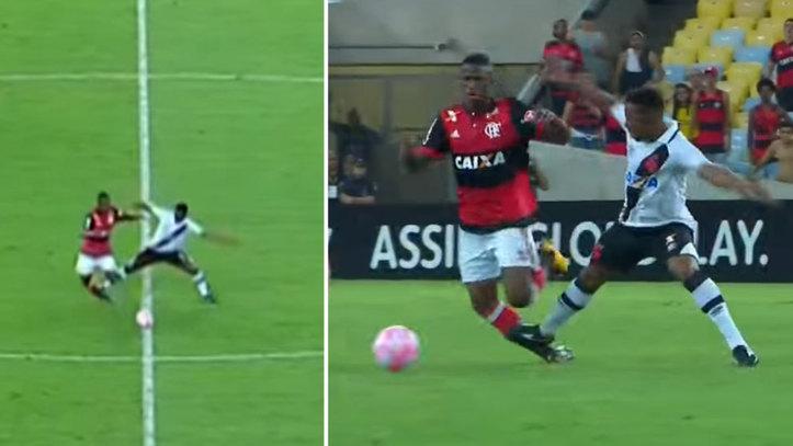 Vinicius receives some rough treatment
