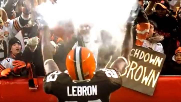 e544a3dce NBA: Campaña para que LeBron deje la NBA por la NFL para ser