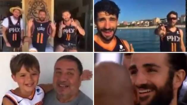 Los invictos Suns de Ricky presentan su quinteto por megafonía... con vídeos de familiares y amigos