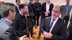 Lo que no se vio de Leo Messi en la zona Vip de los Premios MARCA