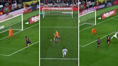 Luis Suárez perdonó un 'hat-trick' de ocasiones clarísimas ante Masip