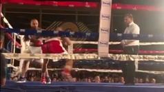 Brutal KO de Samuel Carmona en su debut como profesional