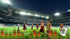 El Bernabéu recibió a Manolas con una sonora ovación