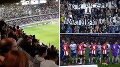 El Athletic agradece al Tenerife la ovación de apoyo a Williams en el minuto 9