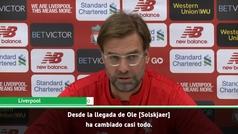 El dardo de Klopp a Mourinho en la previa del United - Liverpool