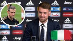 Ramsey habla italiano en su presentación con la Juve... ¡y en Twitter le comparan con Bale!