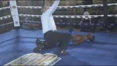 ¡Vaya KO! Queda inconsciente antes de caer a la lona