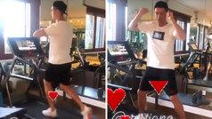 Georgina pilla a Cristiano 'in fraganti' mientras baila en la cinta