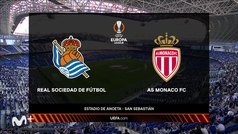 Europa League (J2): resumen y goles del Real Sociedad 1-1 Mónaco