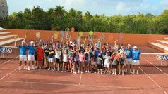 Rafa Nadal comparte su tenis en México