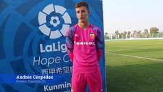 Andrés Céspedes, protagonista en las semifinales de LaLiga Hope Cup
