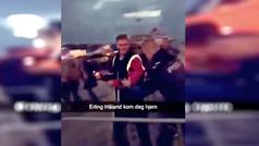 Haaland, expulsado de una discoteca en Noruega... tras encararse con un empleado del local