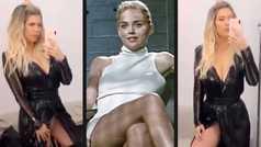 Despiste de Wanda Nara al más puro estilo de Sharon Stone  en 'Instinto Básico'