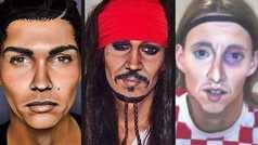 La maquilladora que te convierte en Cristiano, Modric o cualquier estrella