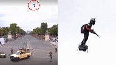 El soldado volador se convierte en la principal atracción del 14 de julio en los Campos Elíseos