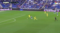 Gol de Piatti (3-1) en el Espanyol 3-1 Villarreal