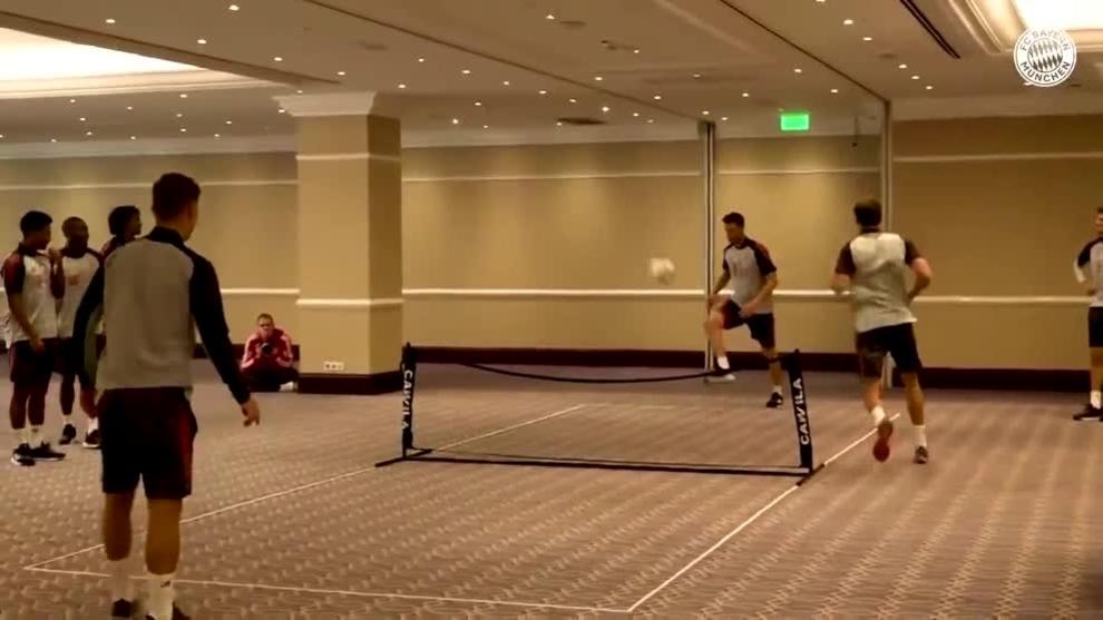 ¿Será este divertido ejercicio de activación el que hace imparable al Bayern?