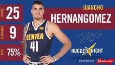 Segunda máxima anotación de Juancho Hernangómez en la NBA