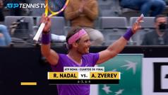 Nadal venga la derrota de Madrid ante Zverev y se mete en semifinales