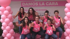 El Estudiantes femenino, volcado contra el cáncer de mama