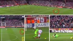 Un balón largo, el portero en el centro del campo... ¿Habrá sido este el último gol a Buffon?