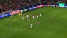Gol de Vlasic (p.) (2-2) en el Viktoria Plzen 2-2 CSKA Moscú