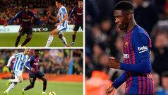 Dembélé bailó en el Camp Nou: ¡tres caños, espuelas, recortes y una carrera eléctrica!