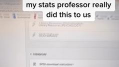 Un profesor trolea a sus alumnos con un despiste falso