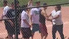 Violenta pelea entre padres durante un partido de niños de siete años con varios heridos