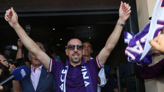 "Ribery desata la locura en Florencia: ""Luca Toni me ha dicho que la Fiorentina es un grande"""