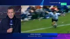 "Valdano rompe a llorar recordando a Maradona en directo: ""Me ha dolido inmensamente..."""