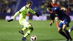 Copa del Rey (octavos, ida): Resumen y goles del Levante 2-1 Barcelona
