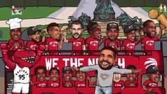 La versión animada del anillo de la NBA de Marc Gasol e Ibaka... ¡con Drake!