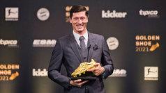 "Lewandowski recibe la Bota de Oro: ""Quiero honrar a Gerd Müller"""