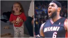 La viral imitación de LeBron James de una niña de dos años