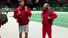 Nadal y Carreño debaten sobre las bolas de 'break' salvadas