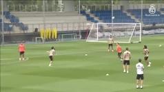 Más balón que trabajo físico en el entrenamiento del Real Madrid