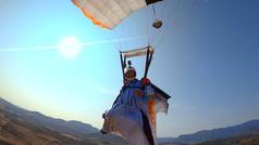 David Tejeiro, primer deportista del mundo en realizar una acrobacia extrema