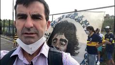 Así se vive un partido en La Bombonera... sin público y con el homenaje a Maradona