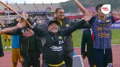 Festejo vikingo de Maradona en Zacatecas